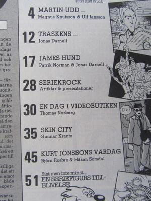 Svenska Serier 1987 01