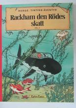 Tintin 12 Rackham den Rödes skatt 2:a uppl. 1977 Vg