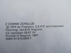Spirou 02 Z som i Zafir 3.e uppl.