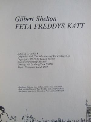 Freak Brothers Feta Freddys Katt