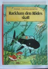 Tintin 12 Rackham den Rödes skatt 1:a uppl. 1974 Fn