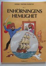 Tintin 11 Enhörningens hemlighet 1:a uppl. 1973 Fn
