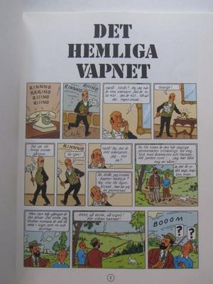 Tintin 10 Det hemliga vapnet 7:e uppl