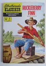 Illustrerade Klassiker 019 Huckleberry Finn 1:a uppl. Vg