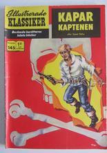 Illustrerade Klassiker 145 Kaparkaptenen 1:a uppl Vg-