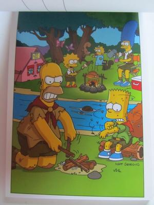 Simpsons greetings from Simpsons - vykort